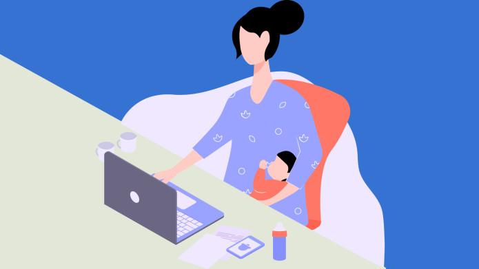 Banner mulher de licença maternidade
