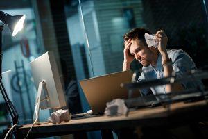 man stress office